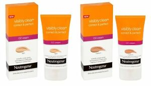 Neutrogena Visibly clear Correct & Perfect CC Cream 50ML Various Shades Oil-Free
