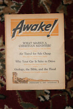 AWAKE! magazine FEBRUARY 8, 1957 Jehovah's Witnesses Original vtg WatchTower