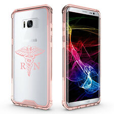 For Samsung Galaxy S7 S8 S9 + Clear Shockproof Bumper Case RN Registered Nurse