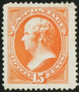 US Sc# 189 *MINT NG H* { JUMBO -XF- 15c WEBSTER } AMERICAN BANK NOTE FROM 1879