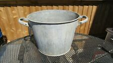 Large Vintage Galvanised Garden Pot Planter