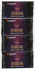 LOT of 4 Throne of Eldraine Promo Booster Pack Magic SPANISH sealed MTG