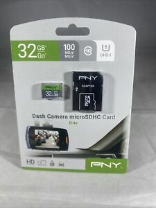 PNY Elite 32GB microSDHC Card, UHS-I, U1, up to 85MB/Sec w/ Adapter GENUINE