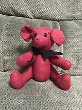 Handmade Jointed Teddy Bear Made With Material Red Polka Dot