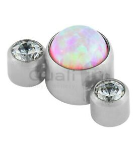 The 'Amaryllis' 3 Stone Cluster Labret Stud Earring Body Piercing Jewellery