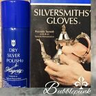 HAGERTY 1.25 oz Dry Silver Spray & Silversmiths' Gloves Polish Kit NIB