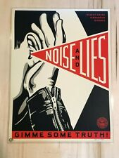Shepard Fairey Noise & Lies poster Obey Giant S/N silkscreen Gimme Some Truth