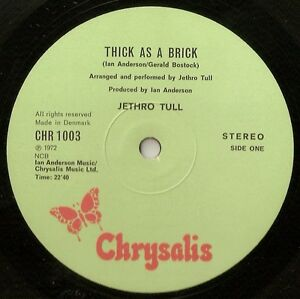 JETHRO TULL THICK AS A BRICK DANISH LP 1972 ROCK PSYCH 12 PAGE NEWSPAPER SLEEVE