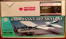 Cox .049 Cessna 182 Skylane R/C Model Airplane 1:12 With Cadet 2 Channel Radio