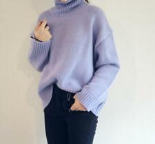 Womens Korean Pullovers Knitted Loose Sweater Tops Cashmere Blend Long Sleeve V8