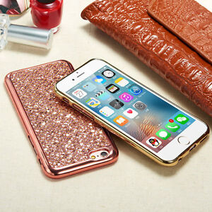 NEW Bling Glitter Sparkly Soft Gel Phone Cover Case For iPhone 7 6 Plus 6s 5 5s