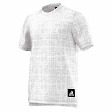 NWT MEN'S ADIDAS PERFORMANCE GRAPHIC TEE DNA WHITE & GREY