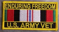 Embroidered Patch Gulf War Enduring Freedom Veteran Army NEW