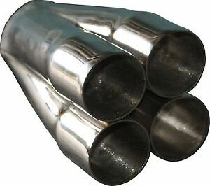 """4-1 Stainless Steel MERGE COLLECTOR 4 x 2 1/4"""" ID in, 3"""" out"""