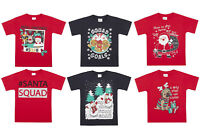 BOYS/GIRLS XMAS/CHRISTMAS T SHIRTS 2-13 Years Santa,Pug,Gingerbread,Snowman