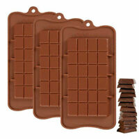 3 Pcs/lot Silicone Mould 24 Grids Square Ice Chocolate Mold Bar Block Cake Decor