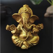 Gold Lord Ganesha Buddha Statue Elephant God Sculptures Ganesh Figurines