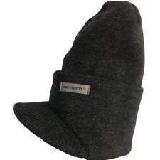 Carhartt NWT Men's Winter Knit Hat with Visor in Coal Heather A164 One Size