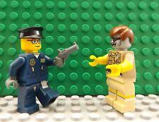 Nuevo LEGO 2 Mini Figuras policía & Gun Zombie Apocalipsis Película De Terror Conjunto