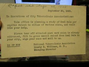 Vintage Old Postcard NEW YORK CITY Tuberculosis Association National Seal Sale