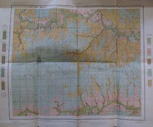 Folded Color Soil Survey Map Russell Kansas Bunker Hill Smoky Hill River 1903