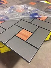 NEW ALUMINUM COMPOSITE MOSAIC BACKSLASH TILES - 285MM X 285MM - LOT OF 26