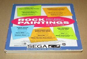 Rock Painting & Hot Hits Music Sampler for Sega CD Fast Shipping
