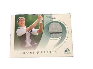 Adam Scott 2002 UD SP Front Nine Fabric Tournament worn golf shirt card #F9S-AS