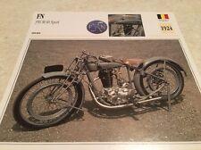 Carte moto FN 350 cc M60 sport 1924 collection Atlas Motorcycle Belgique