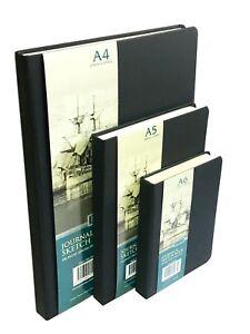 A4/A5/A6 Sketch Book Pad Hardback Premium Quality Ivory Paper