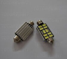 COPPIA SILURI 5730 42MM 10 LED CANBUS C5W C10W T11 COLORE BIANCO OTTIMA QUALITA'