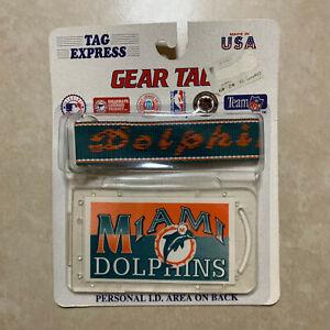 NEW NIP Vintage 90s Miami Dolphins Gear Tag Tag Express Plastic Lugage Tag NFL