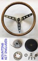 """Fury Scamp Duster Cuda GTX Road Runner Wood Steering wheel walnut 15"""""""