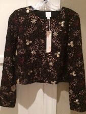 LC Lauren Conrad Runway Beaded Cropped Jacket Size 4 NWT