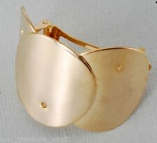 Vintage Hair Barrette Gold Plated Metal Made In France Pony Tail Hair Accessorie