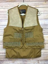 Vintage CS Columbia Sportswear Co. Outdoors Tan  Shooting Upland Vest  (S)