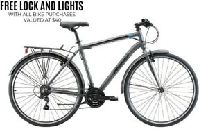 Reid City 1.0 Bike City/Commuting/Hybrid Bikes,Shimano 21 Speed Gearing Mudguard