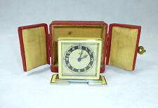 Art Deco Uhr im Etui um 1920 Wecker Reisewecker