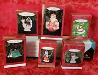 Lot Of 6 Hallmark Christmas Ornaments In Boxes Preowned