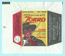 Argentine 1959 Gum Card Wrapper Industria Argentina Zorro Walt Disney TV Series