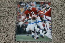CHARLEY JOHNSON AUTOGRAPHED BRONCOS 8X10 PHOTO
