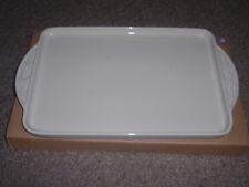 """Longaberger Pottery 9X13 Baking Dish """"Lid, Tray or Baking Sheet"""" Ivory,.New!"""