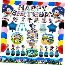 Sonic Birthday Party Supplies, Sonic The Hedgehog Party Supplies Decorations