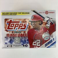 Topps 2021 MLB Baseball Series 1 Factory Sealed Mega Box 16 Packs / 256 Cards
