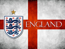 England St George football flag Retro Metal Plaque/Sign, Pub, Bar, Man Cave,