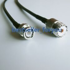 20inch BNC male plug to UHF SO-239 female RF jumper pigtail cable RG58 50cm