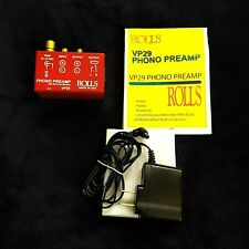 Rolls VP29 Phono Preamplifier Processor Turntable Pre-Amp Amplifier VP-29 +Cords