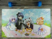 【New】Yu-Gi-Oh! Ghost Sisters Custom Trading Card Game Playmat Mat Free Best tube