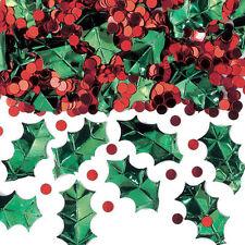 Holly & Rouge Baies Table de Noël Vermicelles Confetti Décoration de Fête
