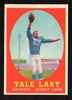 "1958 Topps #18 Yale Lary Detroit Lions HOF Vintage Football Card  ""mrp""  NM"